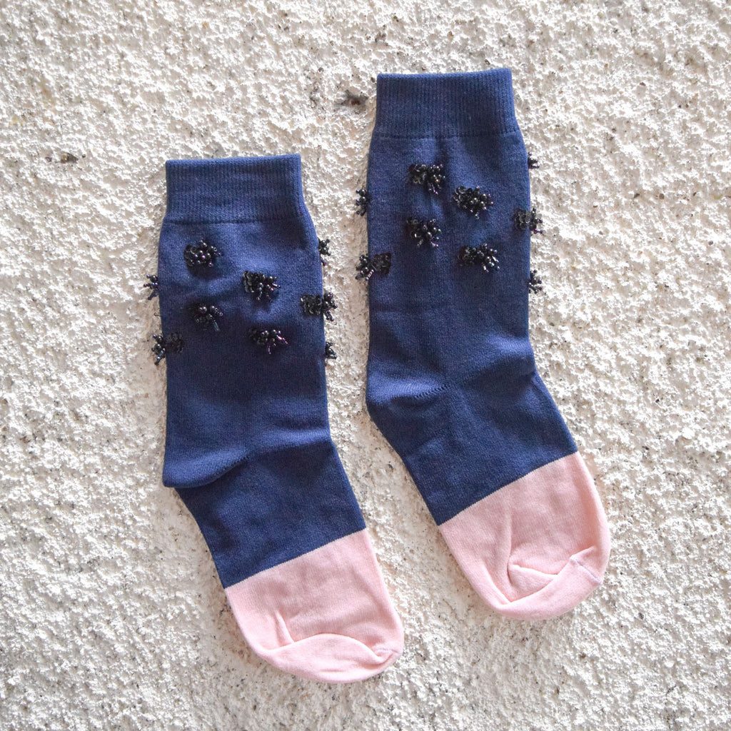 Socks Navy - Navy Pink