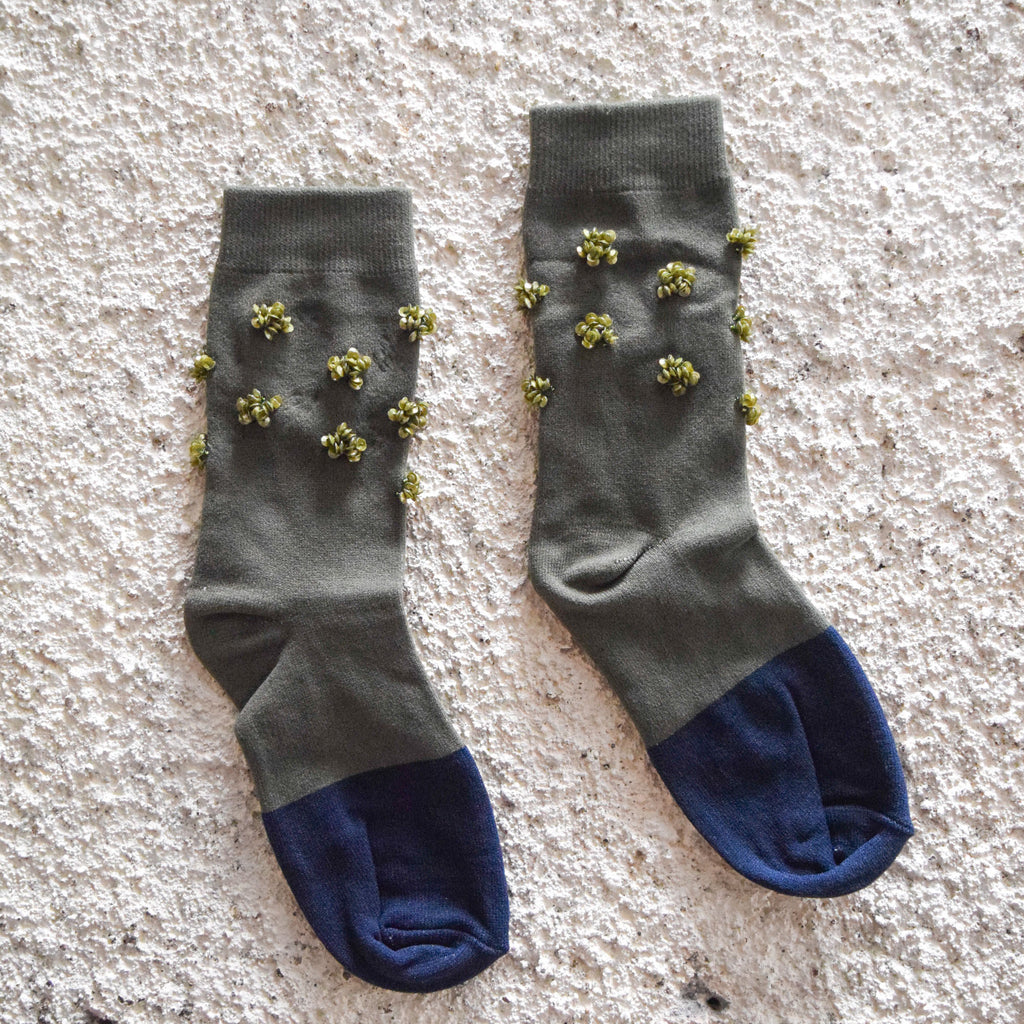 Socks Green - Green Navy