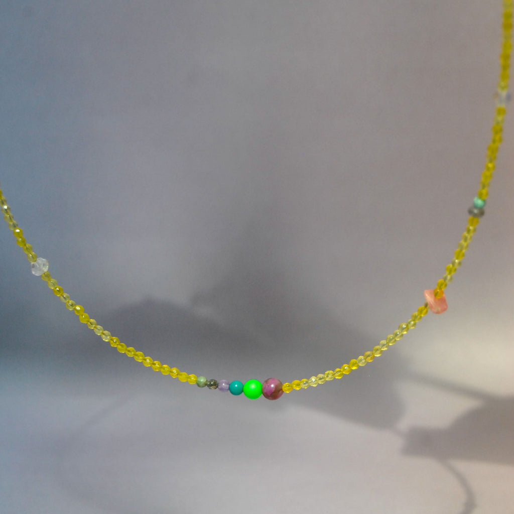 Yellow Jade Choker