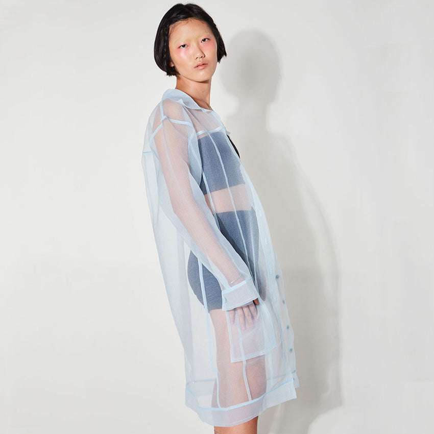 Baby Blue Sheer Transparent Outer