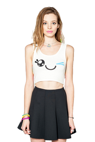 SO SO Happy x Iron Fist Wink Crop Top