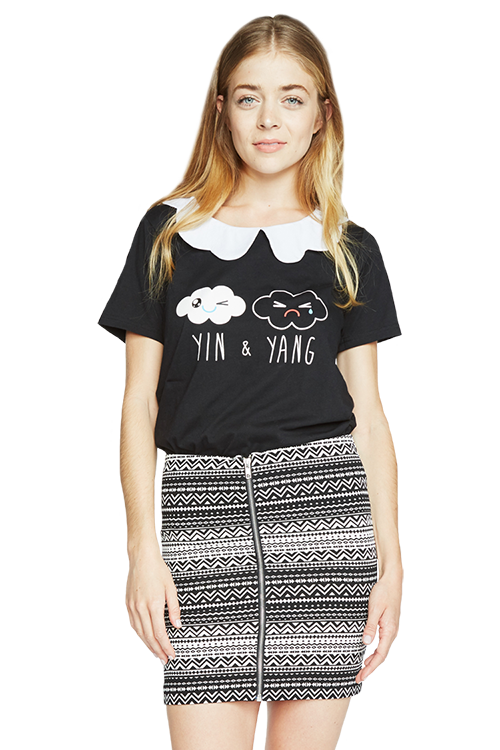 Yin and Yang Girlie Tee
