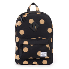 3ee2d953903a The Heritage Gold Spots On Black Backpack. Here s to wishing we we re all a  foot shorter (and cuter!)