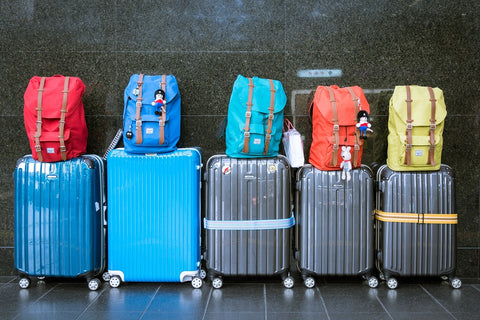 Suitcases In The Airport