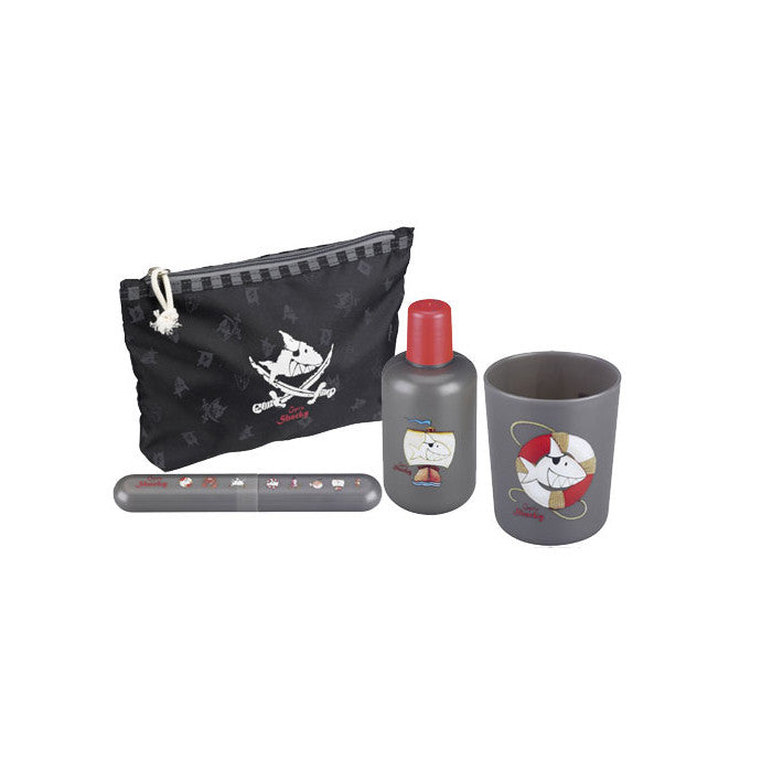 Spiegelburg Capt'n Sharky Washbag Travel Set for Kids