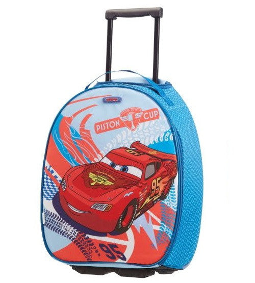 American Tourister Disney Legends Cars Racing Upright 45cm & Toilet Kit Bundle
