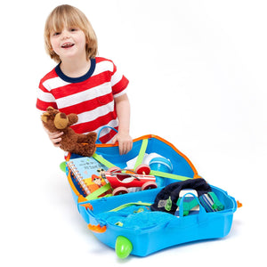 Trunki Terrance - Open with child and toys