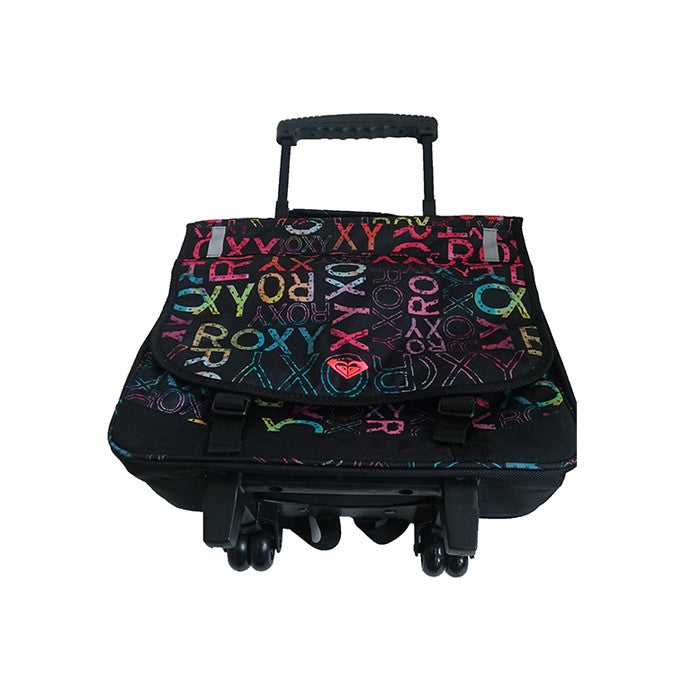 Roxy Green Monday Laptop Bag on Wheels Black With Lettering