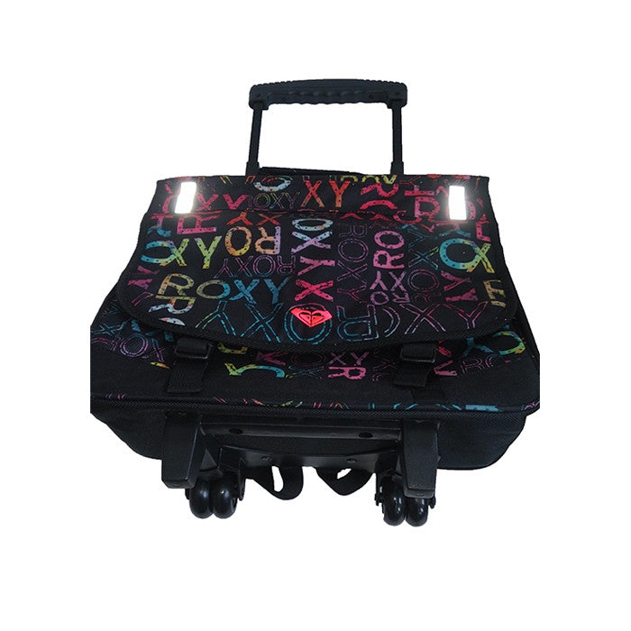 Roxy Green Monday Laptop Bag on Wheels Black Reflective