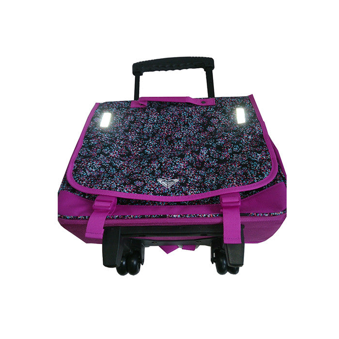 Roxy Green Monday Laptop Bag on Wheels Purple Reflective
