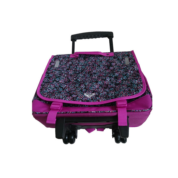 Roxy Green Monday Laptop Bag on Wheels Purple And Black