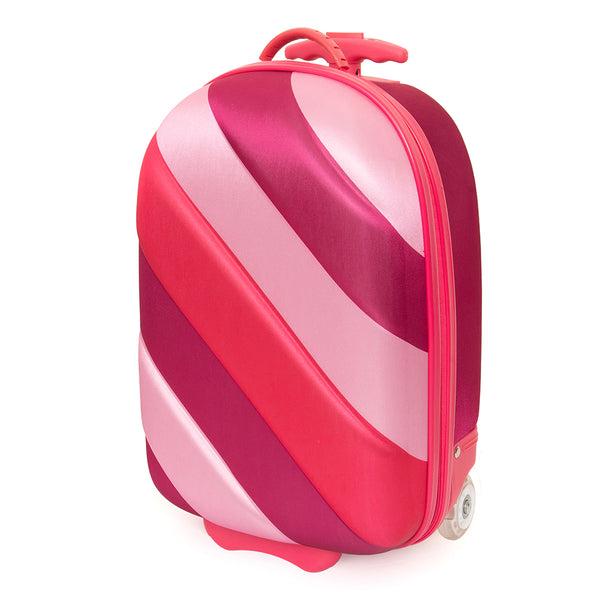 KT2 Rainbow Soft Shell Suitcase Pink Bubble