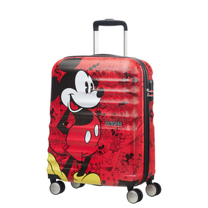 American Tourister Mickey Comics Red Spinner 55cm