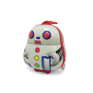 Kids Travel 2 Robot Children's Suitcase & Neck Pillow Bundle