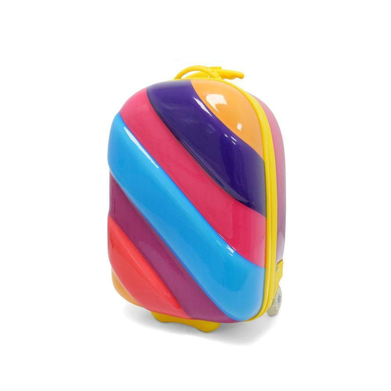 Kids Travel 2 Children's Striped Suitcase Purple Fizz