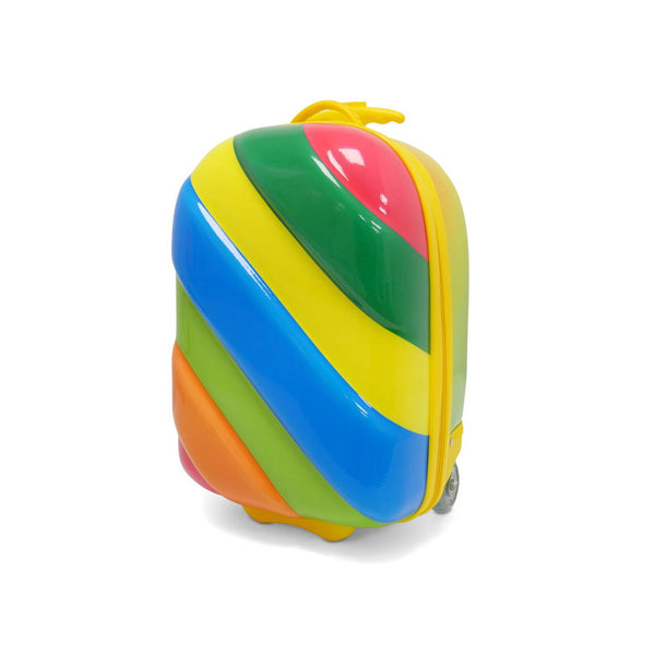 Kids Travel 2 Children's Striped Suitcase Tropical Candy