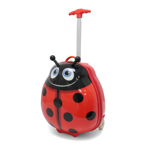 Kids Travel 2 Children's Suitcase Ladybird Handle