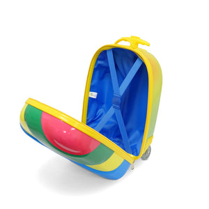 Kids Travel 2 Children's Striped Suitcase Tropical Candy Inside