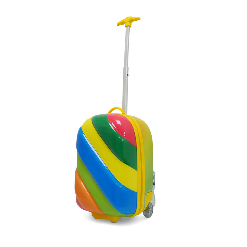 Kids Travel 2 Children's Striped Suitcase Tropical Candy Handle Extended