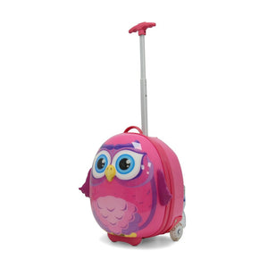 Kids Travel 2 Children's Suitcase Owl Handle Extended