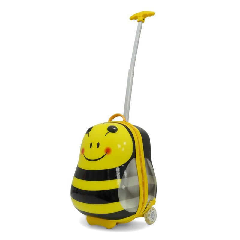 Kids Travel 2 Bee Children's Suitcase & Neck Pillow Bundle
