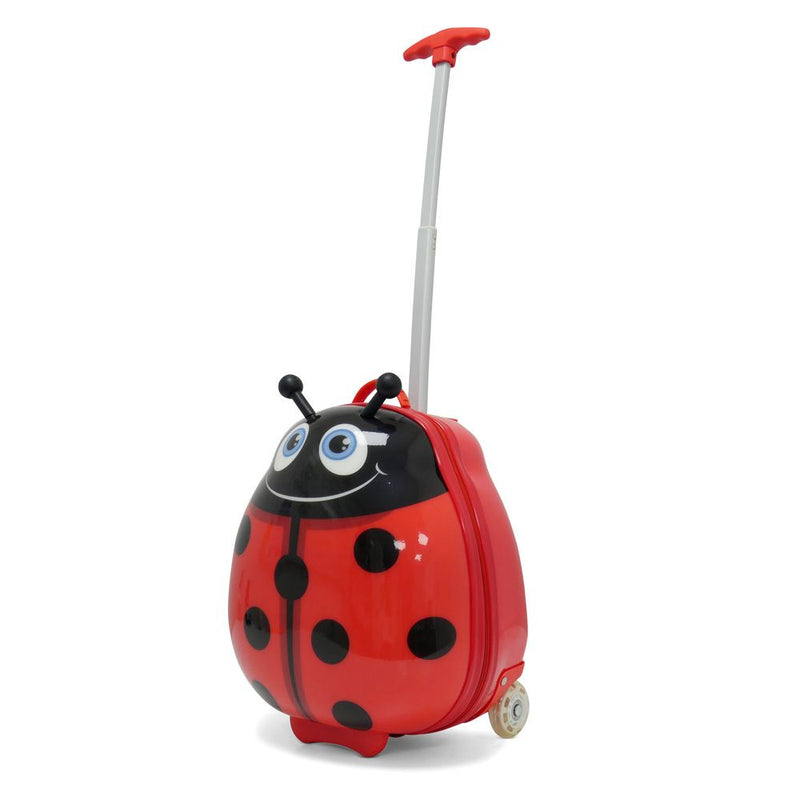Kids Travel 2 Children's Suitcase Ladybird Handle Extended