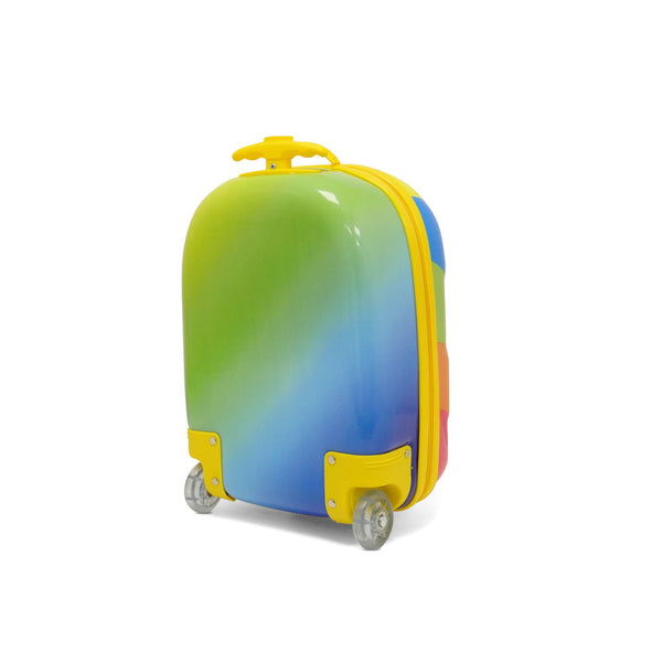 Kids Travel 2 Children's Striped Suitcase Tropical Candy Back