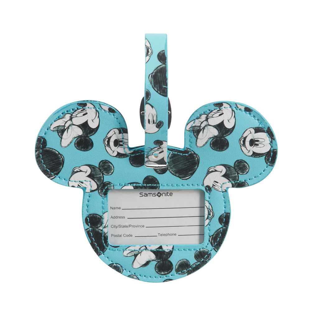 Samsonite Mickey/Minnie Blue Luggage ID Tag
