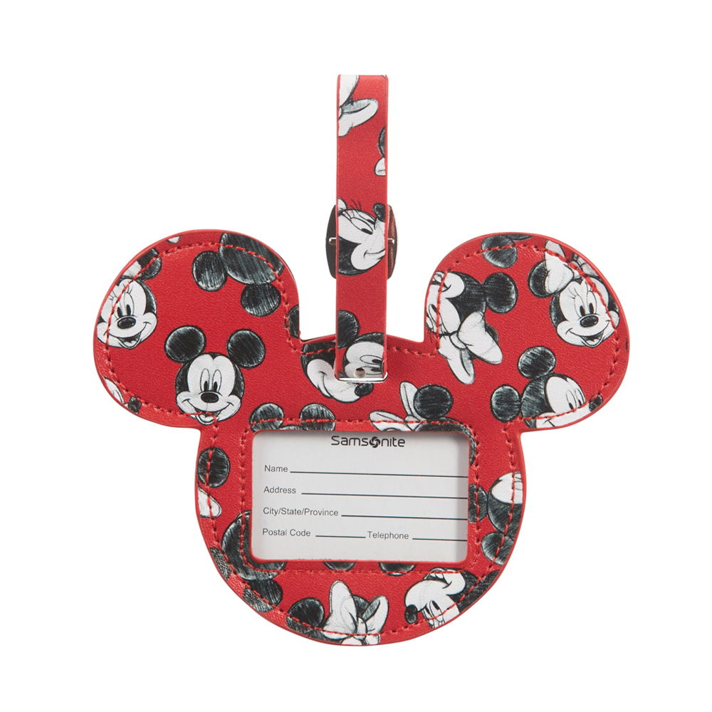 Samsonite Mickey/Minnie Red Luggage ID Tag