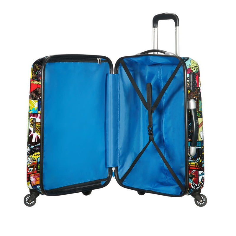 American Tourister Star Wars Legends Comic Spinner 55cm Interior With Luggage Straps