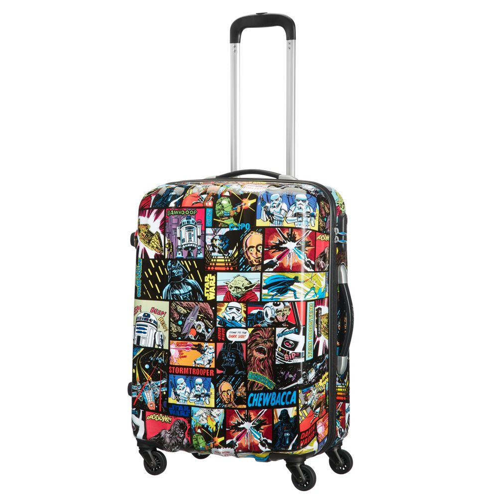 American Tourister Star Wars Legends Comic Spinner 65cm Front With Handle Extended