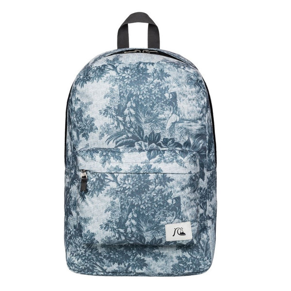 Quiksilver Night Track Print Sunset Tunnels Snow White Backpack