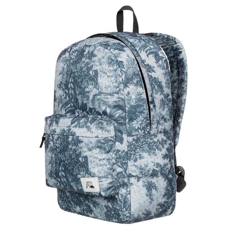 Quiksilver Night Track Print Sunset Tunnels Snow White Backpack Side