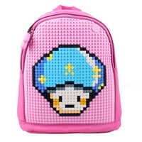 Uanyi Pixel Art Backpack - Pink with mushroom