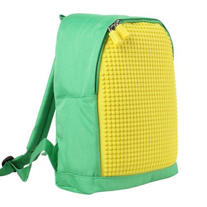 Uanyi Pixel Art Backpack - Green/Yellow