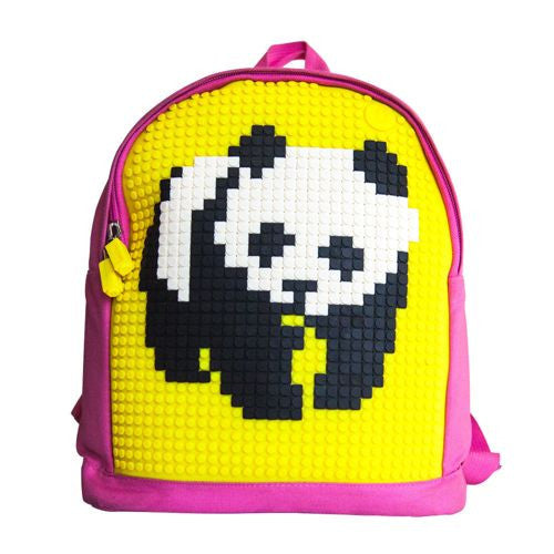 Uanyi Pixel Art Backpack - Yellow/pink with panda