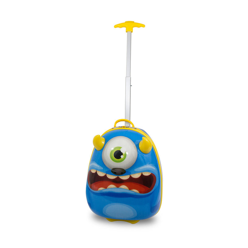 Kids Travel 2 Children's Suitcase Monster Handle Extended