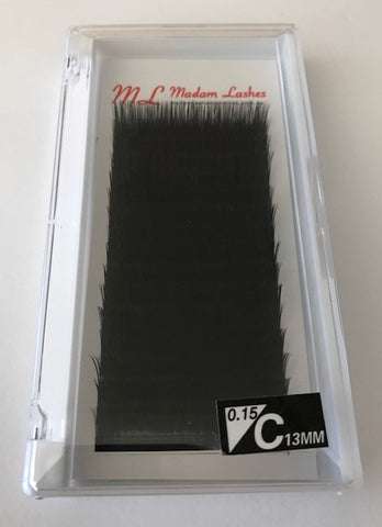 Super Soft Individual Lashes (Dense Black)C 0.15 - SALE! 40% OFF - LAST CHANCE!
