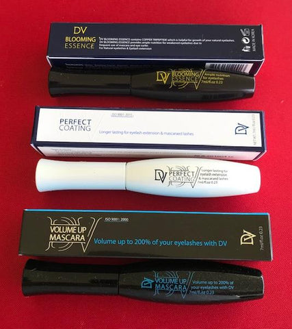 After Care Triple Pack; DV Lash Growth Serum; Lash Glue Protector and Lash Volume Mascara
