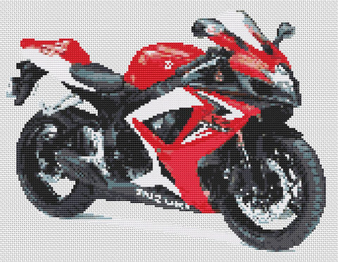 Suzuki GSXR 600 K6 Counted Cross Stitch Kit