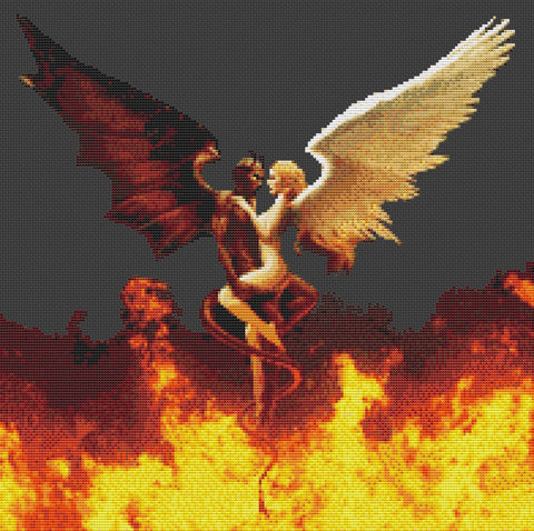 Angel & Demon Counted Cross Stitch Kit Fantasy/Religion