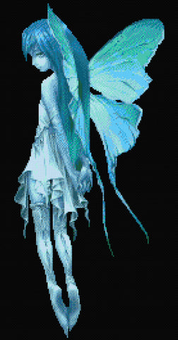 Aqua Serenity Fairy Counted Cross Stitch Kit
