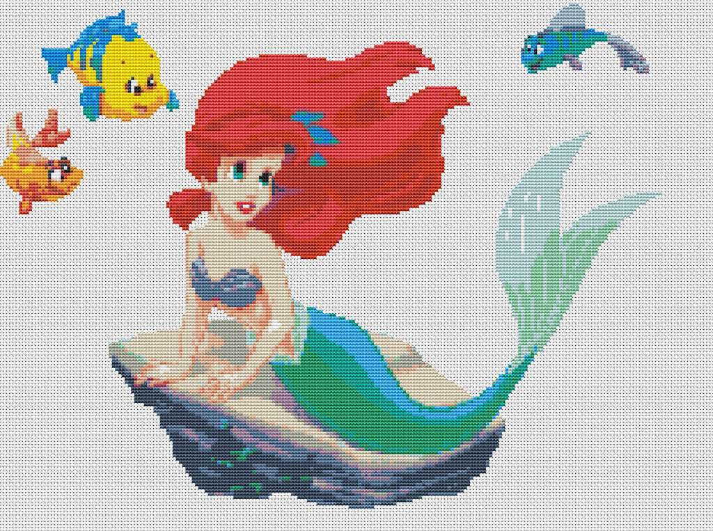 Ariel The Mermaid Counted Cross Stitch Kit