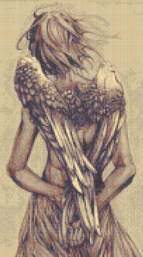 Sepia Angel Counted Cross Stitch Kit