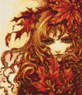 Autumns Child Counted Cross Stitch Kit