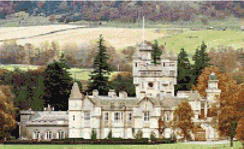 Balmoral Castle Counted Cross Stitch Kit