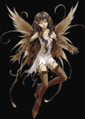 Brown Fairy Counted Cross Stitch Kit