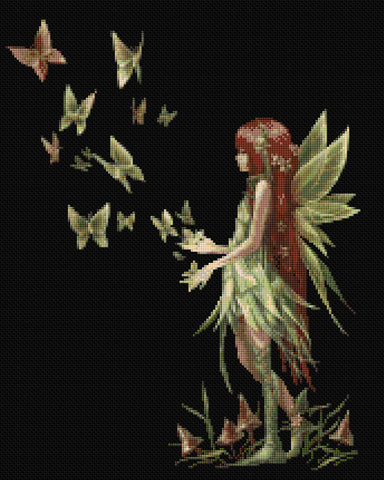 Butterfly Enchantment Fairy Counted Cross Stitch Kit