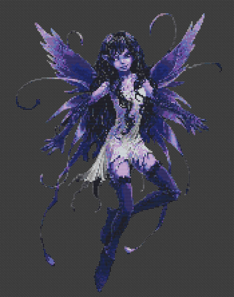 Blue Fairy Counted Cross Stitch Kit