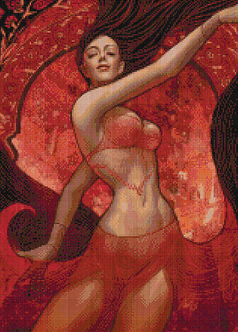 Belly Dancer Counted Cross Stitch Kit